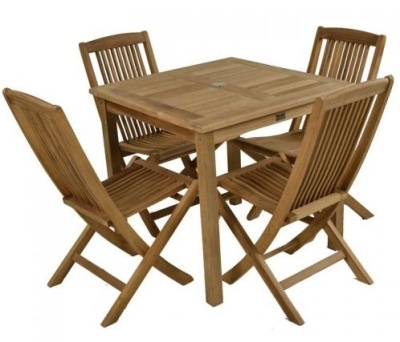 Outdoor Folding Teak Dining Set