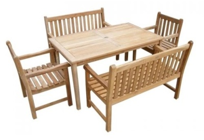 Welbec Outdoor Bench Dining Set