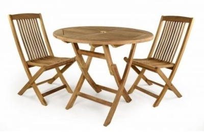 Westlea Outdoor Round Folding Dining Set