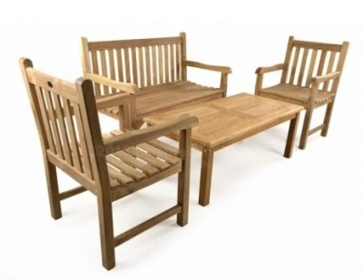 Welbec Outdoor Teak Coffee Set