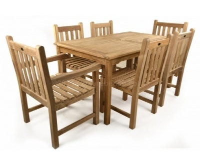 Coventry Six Seater Outdoor Teak Dining Set