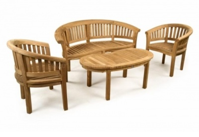 Hungerford Outdoor Teak Coffee Set