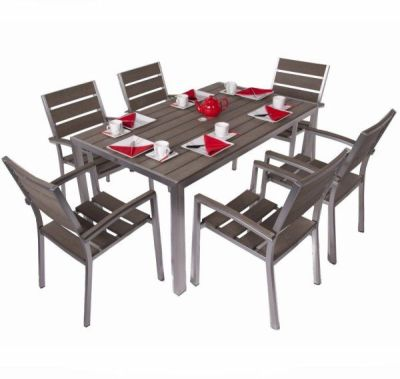Seattle Aluminium Outdoor Six Person Dining Set