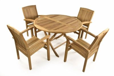 Fiesta Four Seater Outdoor Teak Dining Set