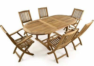 Harvey Folding Teak Dining Set