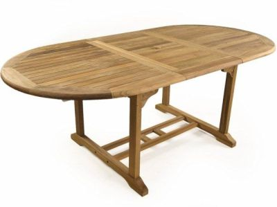 Harvey Outdoor Teak Table Extended