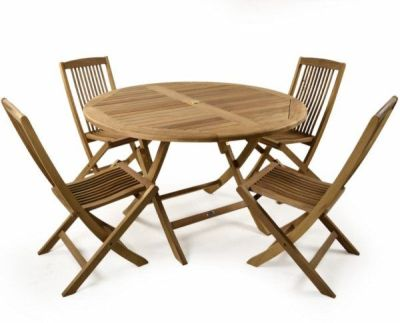 Harrow Outdoor Teak Folding Dining Set