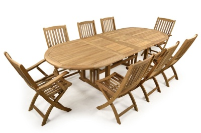 Leicester Eight Seater Outdoor Dining Set