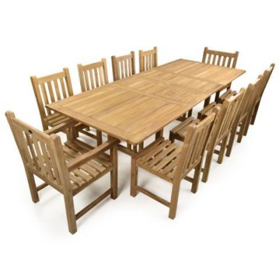 Malvern 10 Seater Outdoor Teak Dining Set