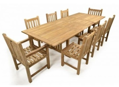 Rochester 8 Seater Outdoor Teak Dining Set