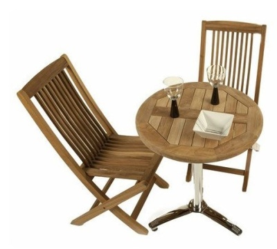 Harvey 2 Person Outdoor Teak Bistro Set