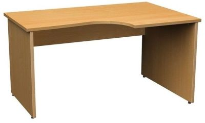 Dynamo Right Hand Corner Computer Desk In Beech For Home Or Office Compact Ergonomic Design