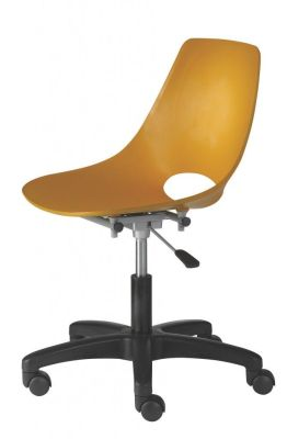 Capo Swivel Operators Chair In Mustard Yellow, Adjustable Height