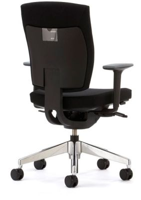 Sprint Swivel Chair Upholstered In Black With Arms And Seat Can Lock In Multiple Positions