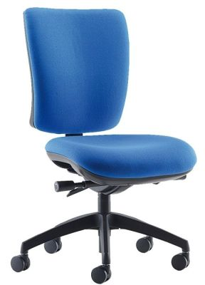Icon Plus Task Chair In Blue With Adjustable Seat And Back