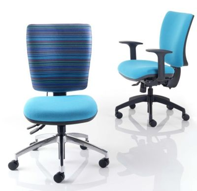 Icon Plus Computer Chairs In Light Blue With Large Seat And Back