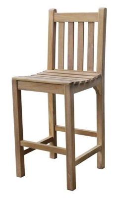 Dover Outdoor Teak High Stool