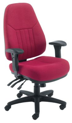 Panther Operator Chair In Red With Large Deep Foam Seat And Back