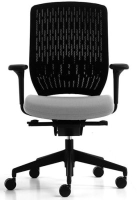 Evolve Computer Chair With Grey Seat And Specially Designed Backrest That Is Flexiable And Pivots