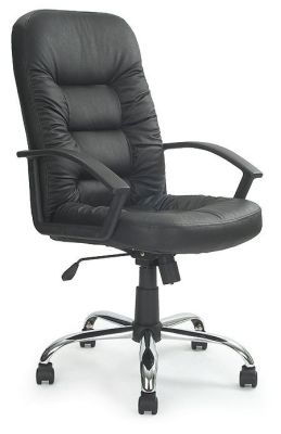 Pedro Black Leather Executive Chair With Reclining Tilt