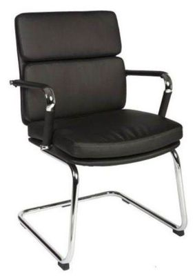 Decodo Conference Chair In Black Faux Leather Based On The Eames Classic