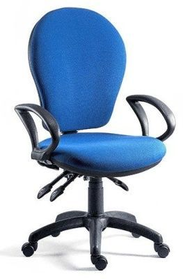 Fraser Managers Swivel Chair With High Back And Blue Fabric