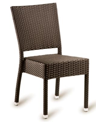 Railex Mocha Outdoor Weave Sidechair