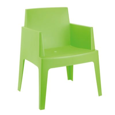 Chuck Outdoor Lime Green Plastic Chairs
