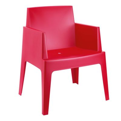 Chuck Outdoor Red Poly Chair