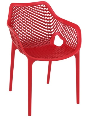 Percy Outdoor Red Plastic Armchair