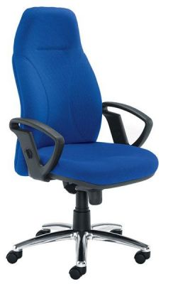 Eco Comfortable Posture Chair With Deep Foam Cushions Upholstered In Blue