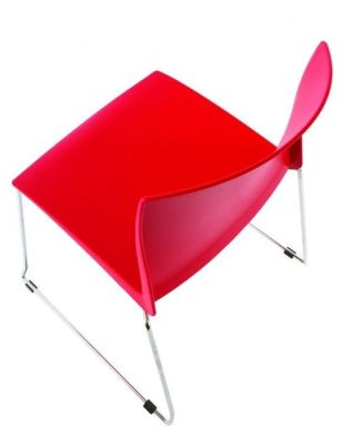 Stack HD Multipurpose Seating In Red From-above