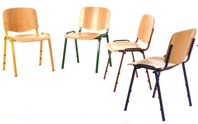 Redstar Chair With Beech Seats Chrome And Black Frames