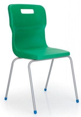Titan 4 Leg Classroom Chair In Green