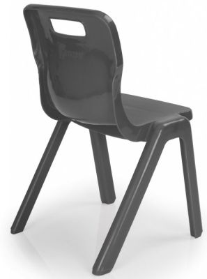 Titan One Piece Poly Chair In Black