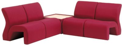 Vavoo Modular Seating In Burgundy