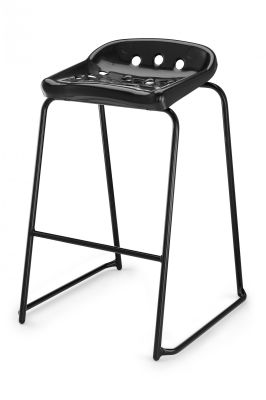 Pepperpot Laboratory Stool In Black