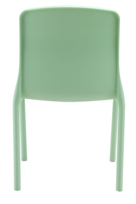 Titan Plus Lime Green Poly Chair Rear View