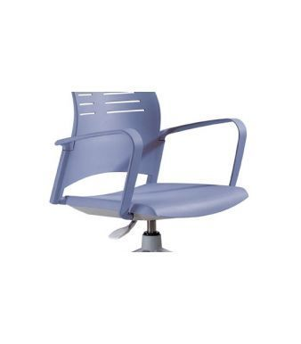 Spacio Designer Armrests In Pale Blue On A Spacio Chair