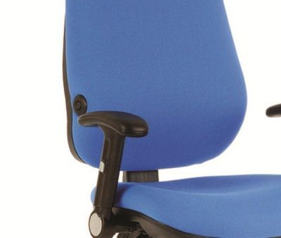 Daisy Office Chair In Blue Fabric With T Adjustable Arm