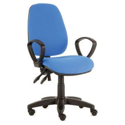 Daisy Value Computer Chair With Blue Upholstery And Hoop Arms