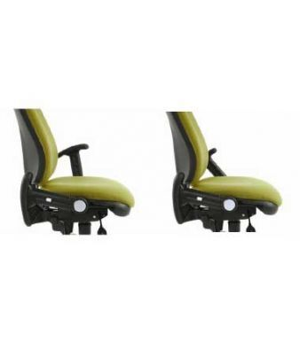 Eric Operator Chair In Apple Green With Fold Away Arms