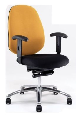 Dino Deluxe Two Tone Task Chair With Orange Back And Black Seat