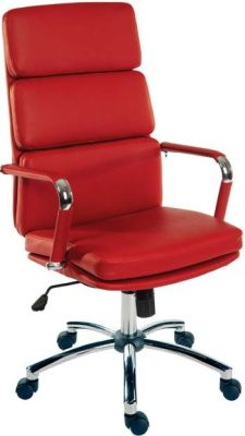 Decodo Red Leather Executive Chair