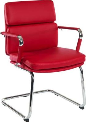Decodo Red Leather Conference Chair
