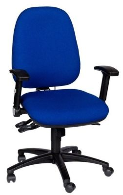 Kinetic Management Chair In Royal Blue With Black Armrests And Spider Base