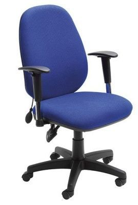 Sofia Blue Managers Swivel Chair With High Adjustable Back