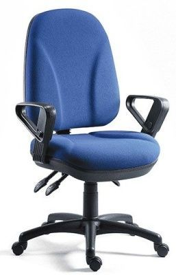 Commando Large Management Chair With Extra Large Back In Blue Fabric