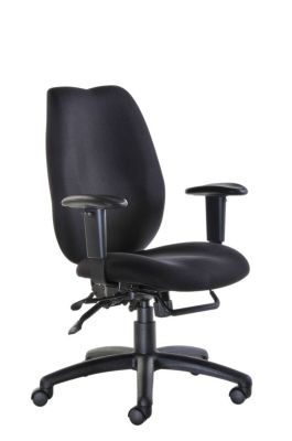 Truro Office Chair In Black Uphlstery With Swivel Base