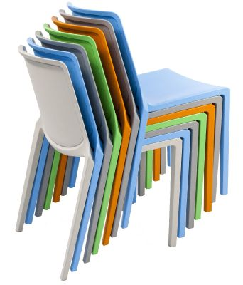 Stack Of Plaza Indoor And Outdoor Chairs